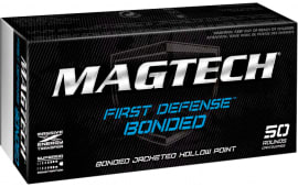 Magtech 9BONA First Defense 9mm Luger 124  GR Jacketed Hollow Point Bonded - 50rd Box