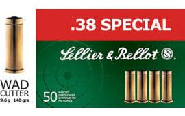 Sellier & Bellot SB38B 38 Special Wad Cutter 148  GR - 50rd Box