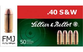 Sellier & Bellot SB40B Handgun 40 S&W 180  GR FMJ - 50rd Box