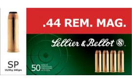 Sellier & Bellot SB44A Handgun 44 Rem Mag 240 GR Soft Point - 50rd Box