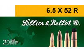 Sellier & Bellot SB6552RA Rifle 6.5X52mmR 117 GR Soft Point - 20rd Box