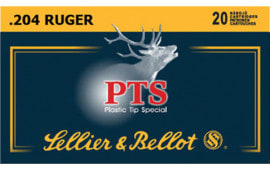 Sellier & Bellot SB204A Plastic Tip Special 204 Ruger PTS 32  GR - 20rd Box