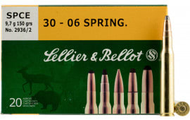 Sellier & Bellot SB3006C Rifle Hunting 30-06 150  GR Spce (Soft Point Cut-Through Edge) - 20rd Box