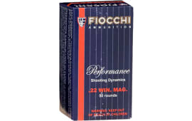 Fiocchi 22FWMB Hunting 22 WMR 40  GR Jacketed Hollow Point - 50rd Box