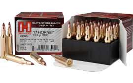 Hornady 83004 Superformance Varmint 17 Hornet 15.5 GR NTX - 25rd Box