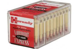 Hornady 83170 Varmint Express 17 Hornady Magnum Rimfire (HMR) 17 GR V-Max - 50 Round Box - 2000 Round Case