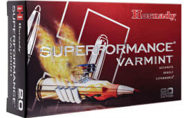 Hornady 83366 Superformance Varmint 22-250 Remington 50 GR V-Max - 20rd Box