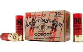 """Hornady 86222 Heavyweight Coyote 12GA BB Nickel 3"""" 1-1/2oz - 10sh Box"""