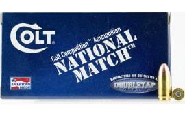 Colt Ammo 9M124FMJCT National Match 9mm Luger 124 GR Full Metal Jacket - 50rd Box