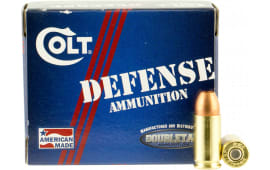 Colt Ammo 9M124CT Defense 9mm Luger 124 GR Jacketed Hollow Point - 20rd Box