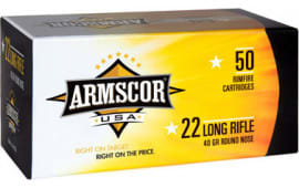 Armscor 50012PH 22 Long Rifle (LR) 40 GR Soft Point - 50rd Box