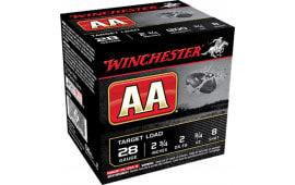 """Winchester Ammo AA288 AA Target Loads 28GA 2.75"""" 3/4oz #8 Shot - 250sh Case"""