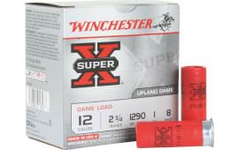 """Winchester Ammo XU128 Super-X Game & Field 12GA 2.75"""" 1oz #8 Shot - 250sh Case"""
