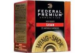 "Federal P1384 Wing-Shok High Velocity Lead 12GA 2.75"" 1-3/8oz #4 Shot - 250sh Case"