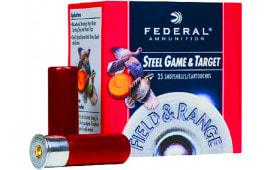 "Federal FRS207 Standard Field & Range Steel 20GA 2.75"" 3/4oz #7 Shot - 250sh Case"