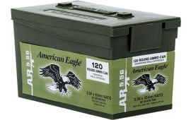 Federal XM855LPC120 M855 5.56 NATO 62 GR FMJ 120 Mini Ammo Can Bulk Pack/5Case - 600rd Case