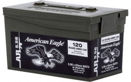 Federal XM193LPC120 American Eagle .223/5.56 NATO 55 GR Full Metal Jacket 600 Total - 600rd Case