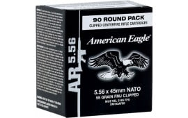Federal XM193AF90 American Eagle 5.56 NATO Clipped FMJ 55 GR - 450rd Case