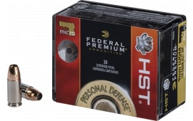 Federal P9HST5S Premium Personal Defense 9mm Luger 150 GR Jacketed Hollow Point - 20rd Box