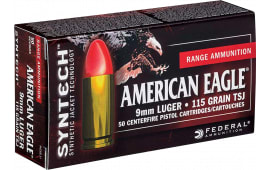 Federal AE40SJ1 American Eagle Syntech 40 Smith & Wesson (S&W) 165 GR Total Synthetic Jacket (TSJ) - 50rd Box