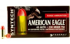 Federal AE45SJ1 American Eagle Syntech 45 ACP 230 GR Total Synthetic Jacket (TSJ) - 50rd Box