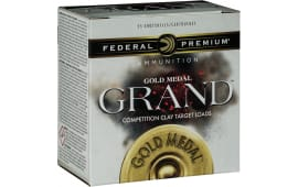 "Federal GMT17875 Gold Medal Grand Target 12GA 2.75"" 1-1/8oz #7.5 Shot - 25sh Box"