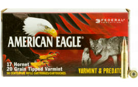 Federal AE17H20TVP American Eagle 17 Hornet 20 GR Varmint - 50rd Box