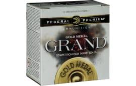 "Federal GMT1168 Gold Medal Grand Target 12GA 2.75"" 1-1/8oz #8 Shot - 25sh Box"