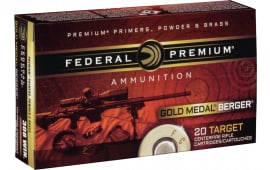 Federal GM223BH73 Gold Medal .223/5.56 NATO 69 GR Boat Tail Hollow Point - 20rd Box
