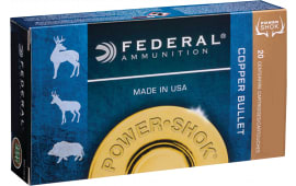 Federal 300WSM180LFA Power-Shok 300 Winchester Short Magnum (WSM) 180 GR Copper Hollow Point - 20rd Box