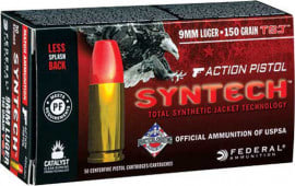 Federal AE9SJAP1 American Eagle Syntech Action Pistol 9mm Luger 150 GR Total Synthetic Jacket (TSJ) - 50rd Box