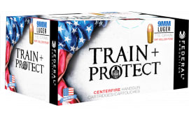 Federal TP9VHP2 Train and Protect 9mm Luger 115 GR Verstile Hollow Point (VHP) - 100rd Box