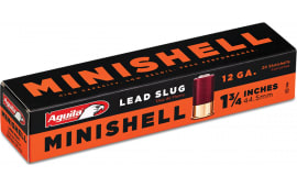 "Aguila 1C128974 Minishell 12GA 1.75"" 7/8oz Slug Shot - 20sh Box"