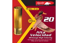 "Aguila 1CHB2006 Field High Velocity 20GA 2.75"" 1oz #6 Shot - 250sh Case"