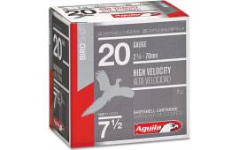 "Aguila 1CHB2007 Field High Velocity 20GA 2.75"" 1oz #7.5 Shot - 250sh Case"