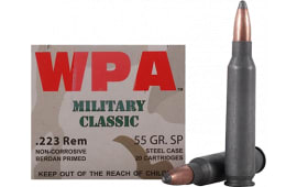Wolf MC22355SP Military Classic 223 Remington 55 GR Soft Point - 500rd Case