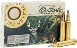 Weatherby G257100SR Norma 257 Weatherby Magnum Spitzer 100 GR - 20rd Box