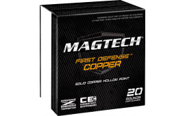MagTech FD40A First Defense 40 Smith & Wesson (S&W) 130 GR Solid Copper Hollow Point - 20rd Box