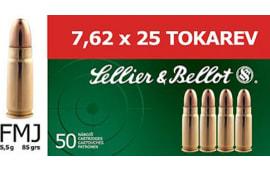 Sellier & Bellot SB762TOK Rifle Training 7.6mmX25mm Tokarev FMJ 85 GR - 50rd Box
