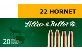 Sellier & Bellot SB22HA Rifle Training 22 Hornet 45 GR FMJ - 20rd Box