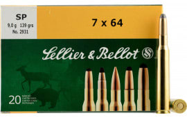 Sellier & Bellot SB764A Rifle 7X64mm Brenneke 139 GR Soft Point - 20rd Box