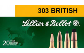Sellier & Bellot SB303B Rifle 303 British 150 GR Soft Point - 20rd Box