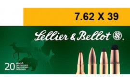 Sellier & Bellot SB76239B Rifle 7.62x39mm 123 GR Soft Point - 20rd Box