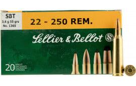 Sellier&Bellot SB22250A GameKing 22-250 Rem 55 GR Spitzer BT - 20rd Box
