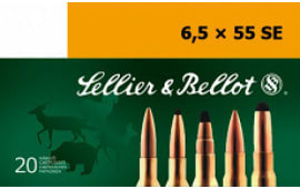 Sellier & Bellot SB6555C Rifle Training 6.5X55mm Swedish 140  GR FMJ - 20rd Box