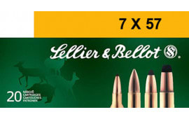 Sellier & Bellot SB757B Rifle 7X57mm Mauser 140 GR Soft Point - 20rd Box