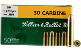 Sellier & Bellot SB30B Rifle 30 Carbine 110 GR Soft Point - 50rd Box