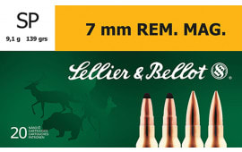 Sellier & Bellot SB7B Rifle 7mm Rem Mag 139 GR Soft Point - 20rd Box