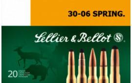 Sellier & Bellot SB3006E Rifle Hunting 30-06 180 GR Spce (Soft Point Cut-Through Edge) - 20rd Box