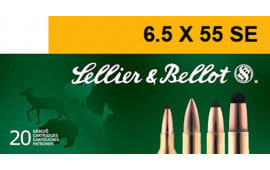 Sellier & Bellot SB6555A Rifle 6.5X55mm Swedish 131 GR Soft Point - 20rd Box